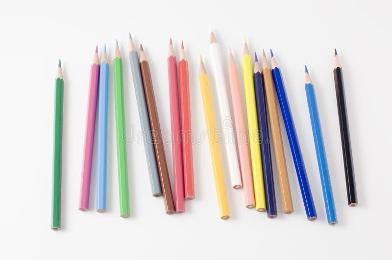 pencil stycken som sätts till, var royaltyfri bild