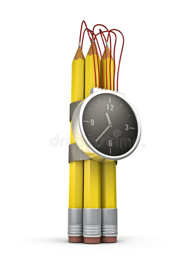Download Pencil Time Bomb Stock Photos - Image: 24546173