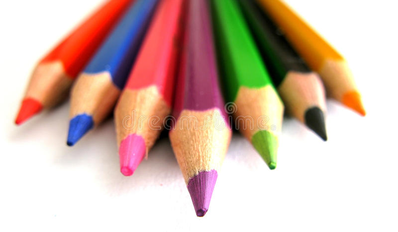 Download Pencil tips stock photo. Image of blue, draw, orange - 16809540