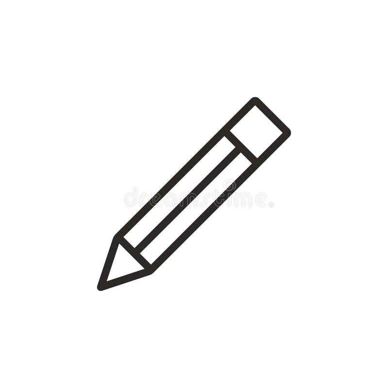 Pencil vector icon. Element of design tool for mobile concept and web apps vector. Thin line icon for website design and royalty free illustration