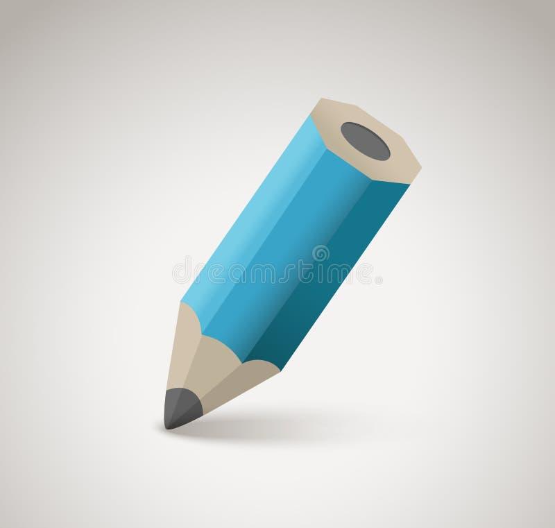 Pencil vector icon royalty free illustration