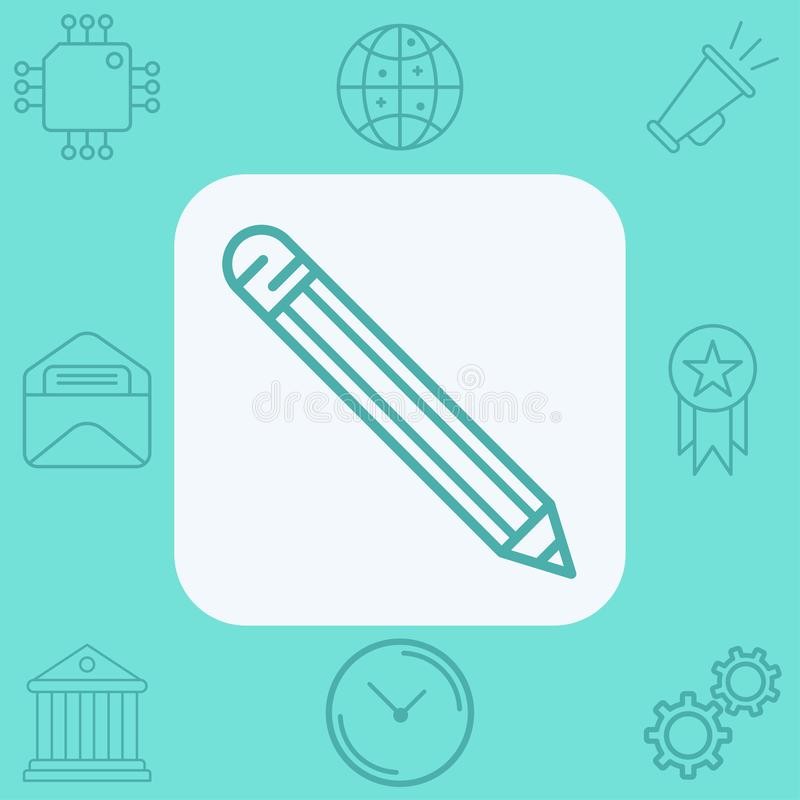 Pencil vector icon sign symbol vector illustration