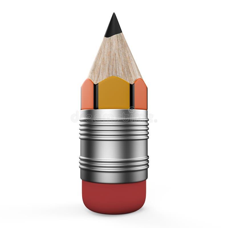 Download Pencil On White Background. 3d Render Illustration Stock Illustration - Image: 23893248