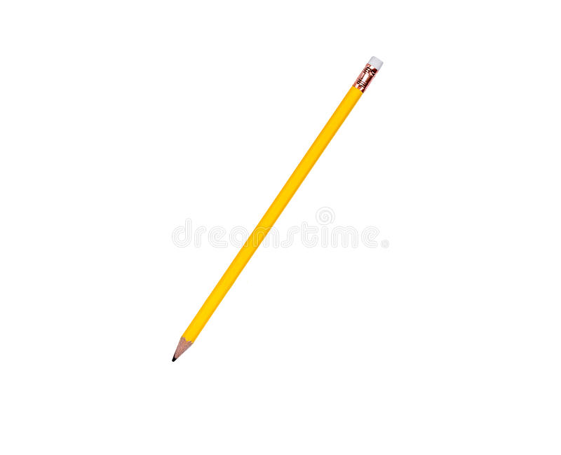 Pencil. On white background with clipping path and copy space stock photography