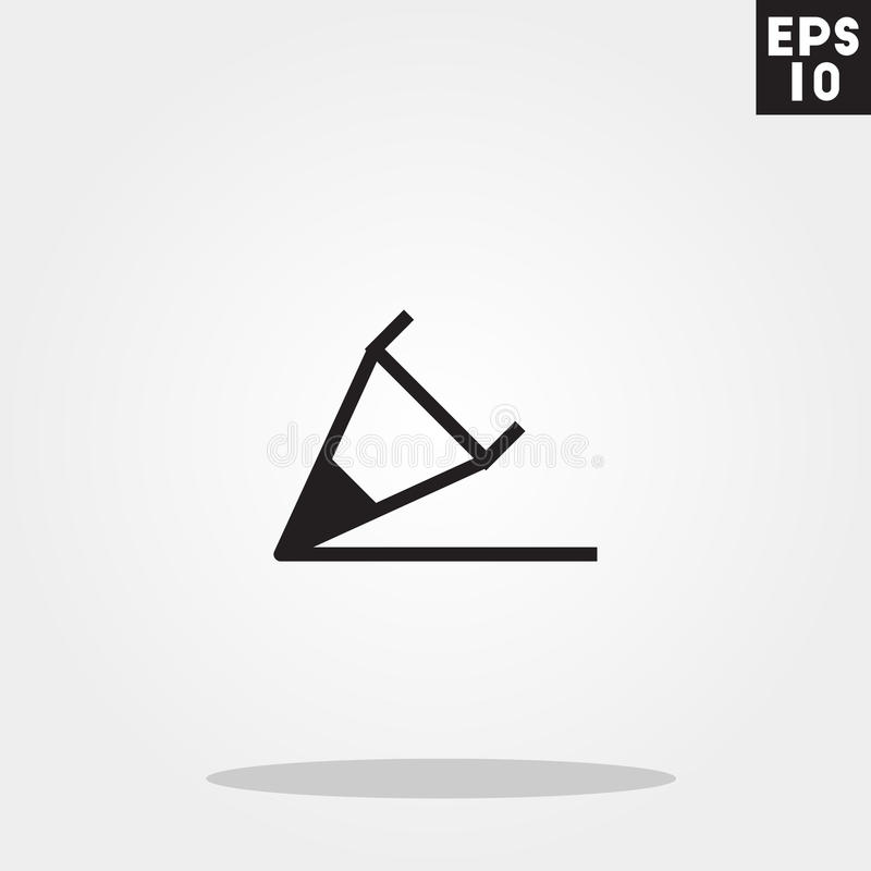 Pencil write icon in trendy flat style isolated on grey background. Pencil write symbol for your design, logo, UI. Vector royalty free illustration