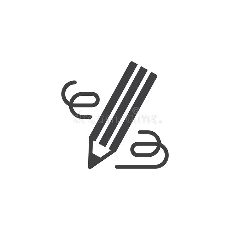 Pencil, write vector icon royalty free illustration