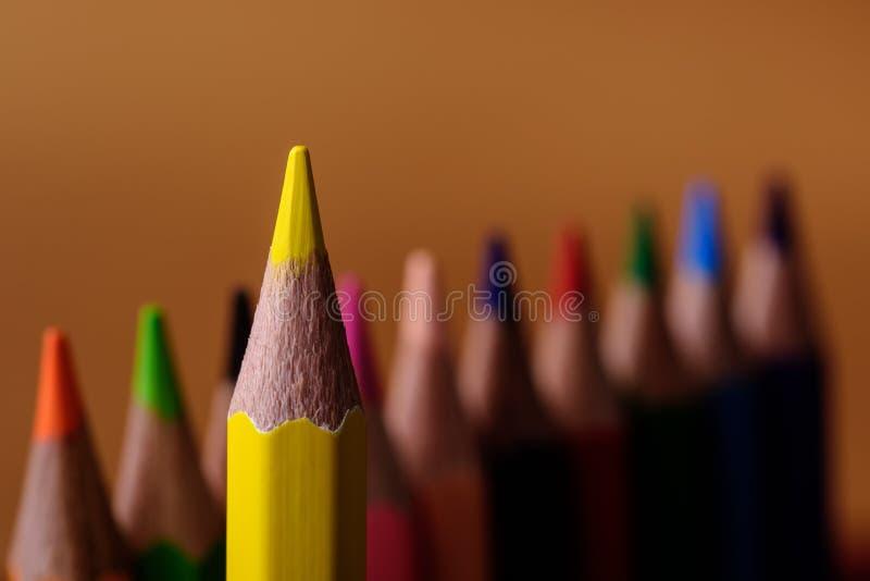 PencilLeader onder gelijkaardig royalty-vrije stock afbeeldingen
