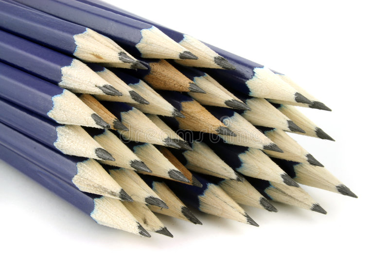 Pencils 1. Pencils on a white background stock photography