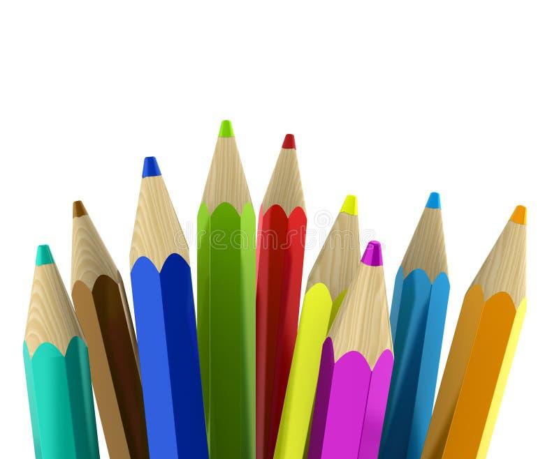 Pencils vector illustration