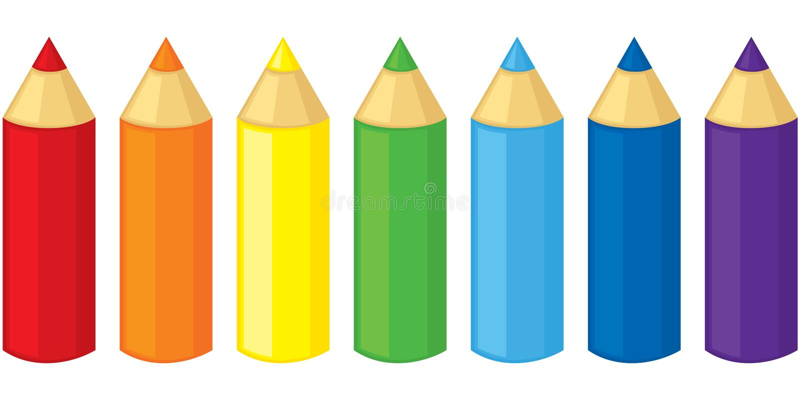 Pencils royalty free illustration