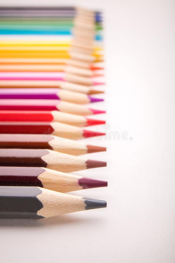 Pencils all colors royalty free stock photo
