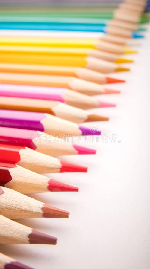 Pencils all colors stock photo