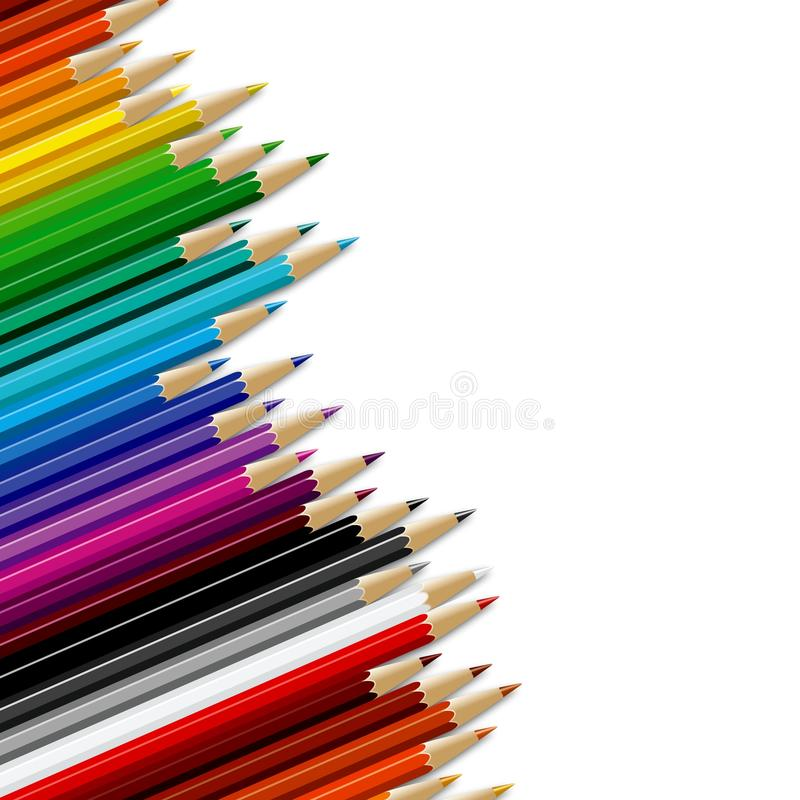 Download Pencils background stock illustration. Image of orange - 21841953