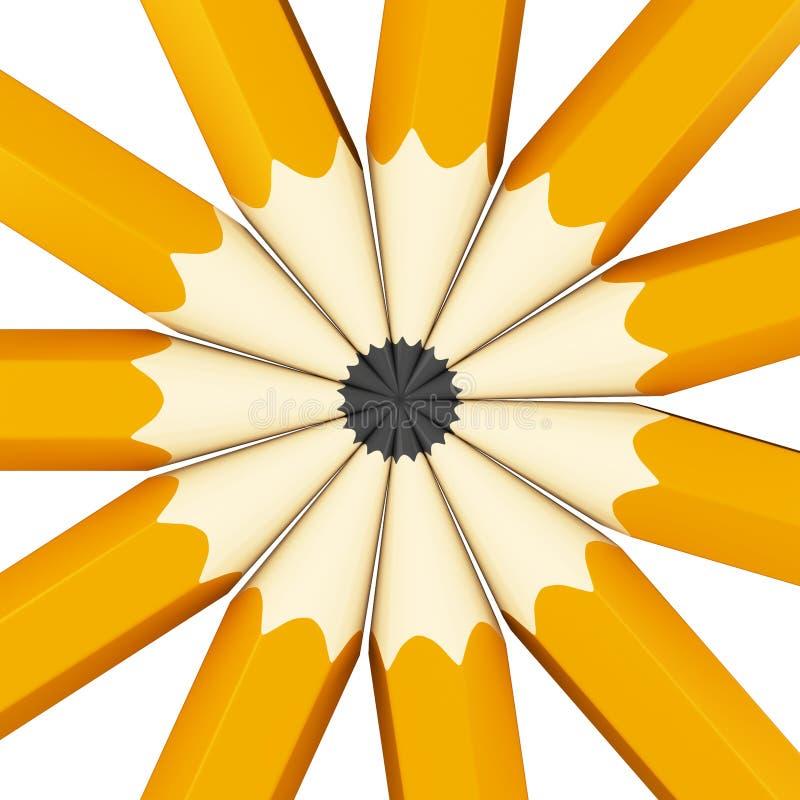Download Pencils background stock illustration. Illustration of colour - 97178949