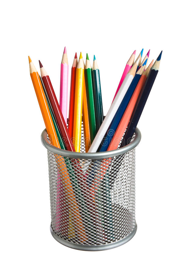 Download Pencils in basket stock image. Image of isolated, pencils - 16850823