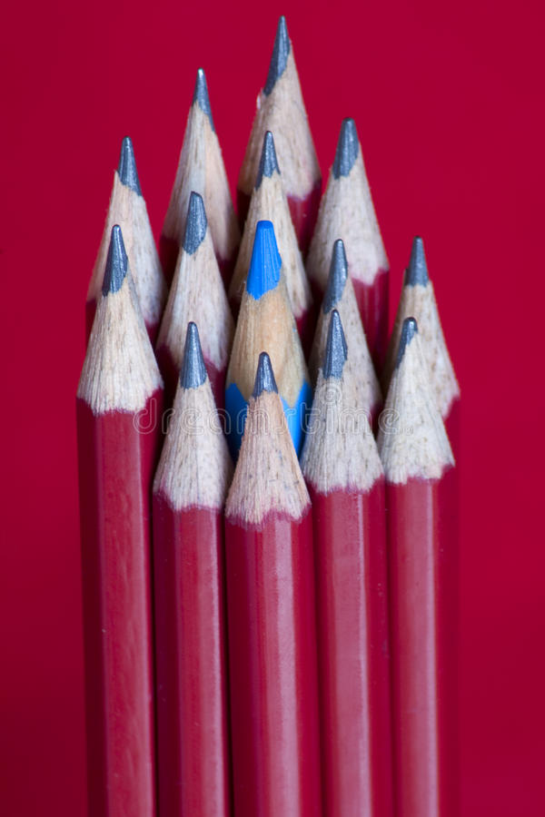 Download Pencils with blue stock photo. Image of write, writing - 12682474