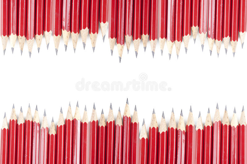 Pencils Border Royalty Free Stock Photo
