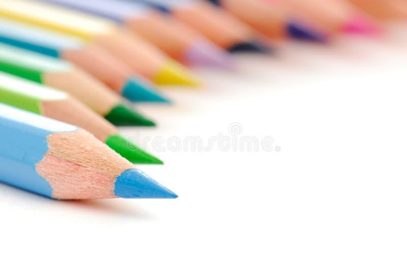 pencils brevpapper royaltyfri foto