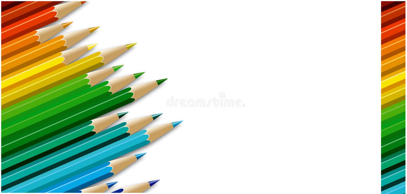 Download Pencils card stock illustration. Illustration of books - 21841940