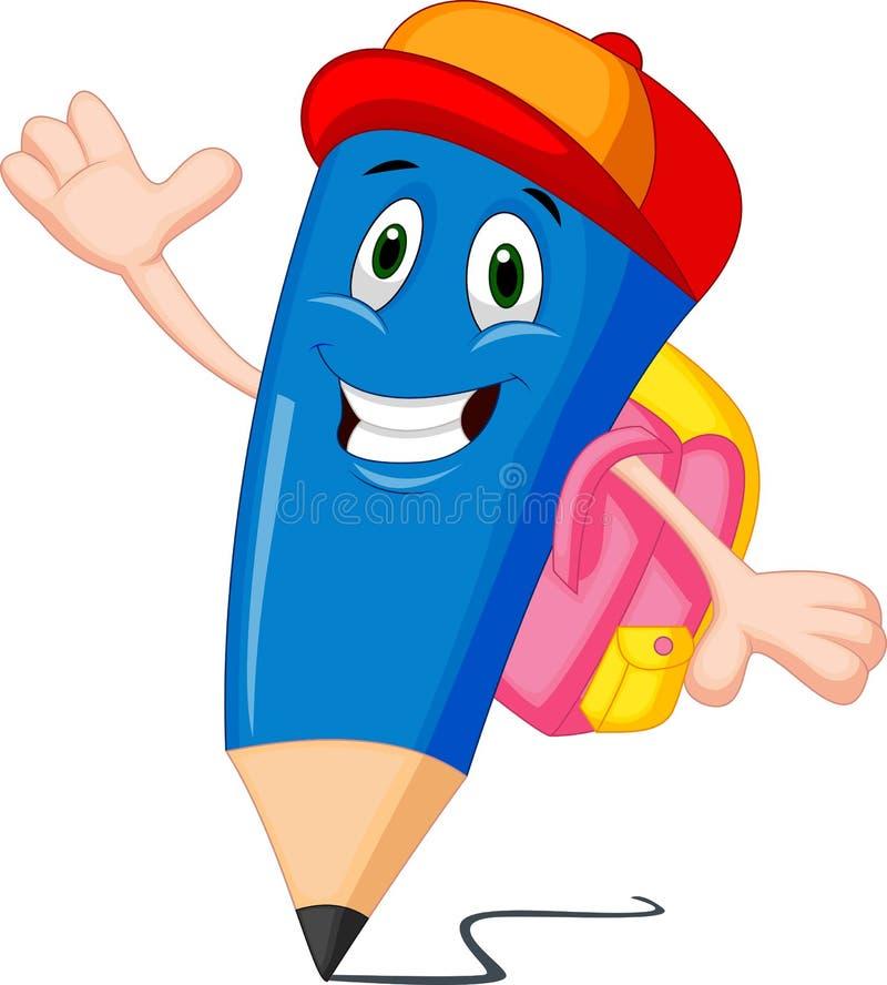 Free Pencils Cartoon With School Bags Stock Image - 34612611