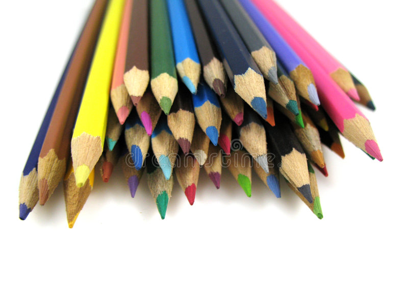 Pencils close-up. A close-up picture of some color pencils royalty free stock photography