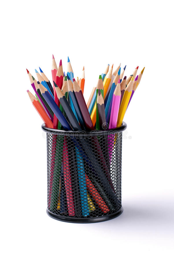 Pencils of different colors stock image