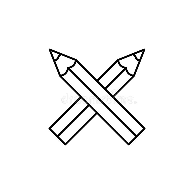 Pencils, draw, edit icon. Element of education illustration. Signs and symbols can be used for web, logo, mobile app, UI, UX stock illustration