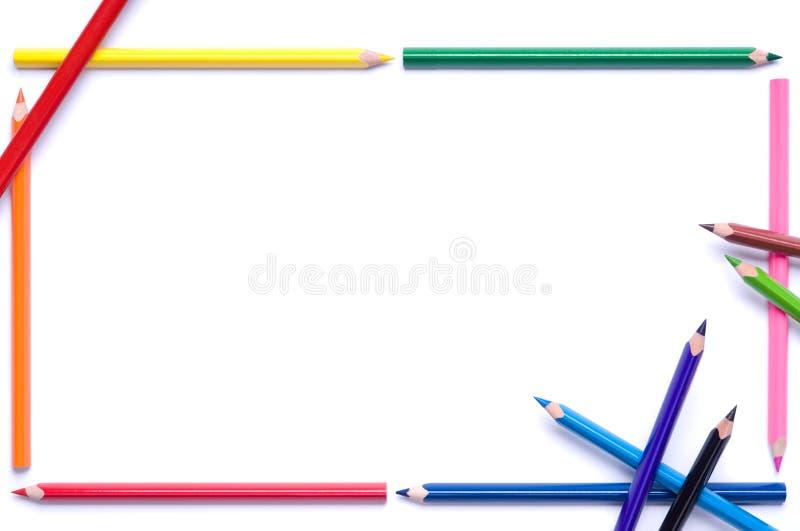Pencils frame royalty free stock photos