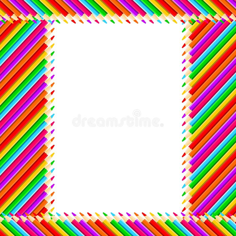 Free Pencils Frame Royalty Free Stock Photography - 21887317