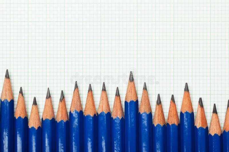 Download Pencils and graph paper stock photo. Image of trend, grid - 25590320