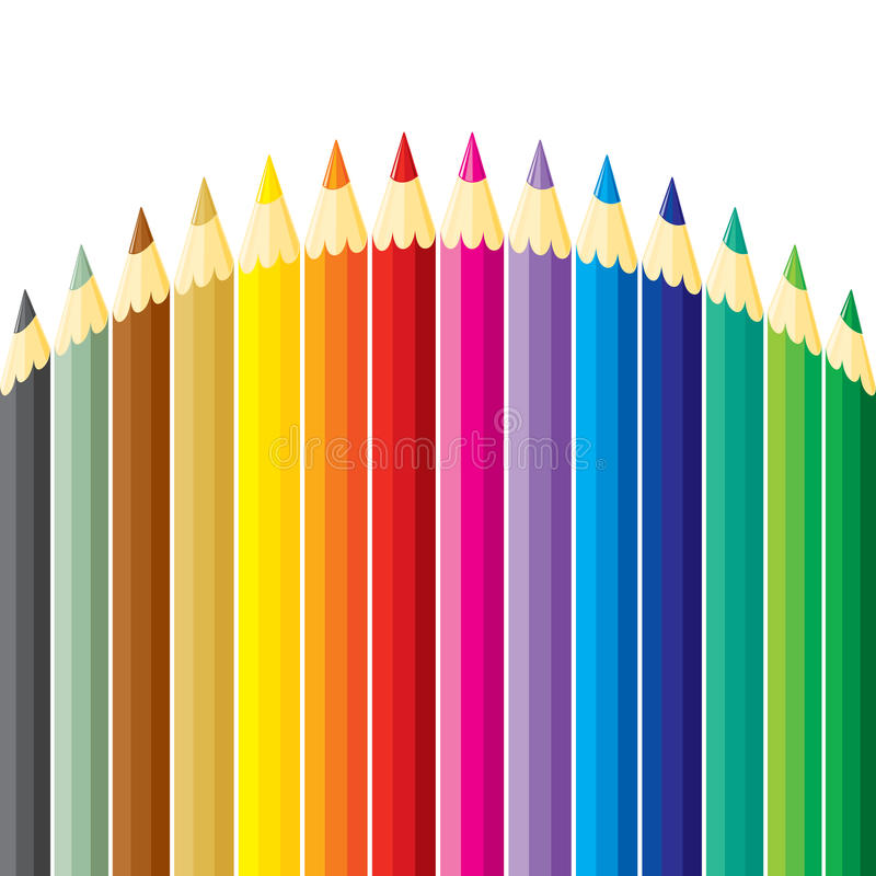 Pencils hill vector illustration