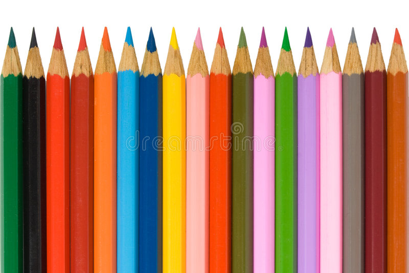 Pencils isolated stock images