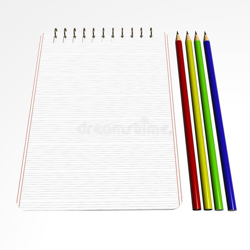 Pencils Notebook2 Stock Photos