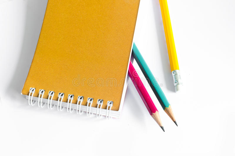 Pencils Red Yellow Green , Three Pencils on white background , Pencils, shallow depth stock photos