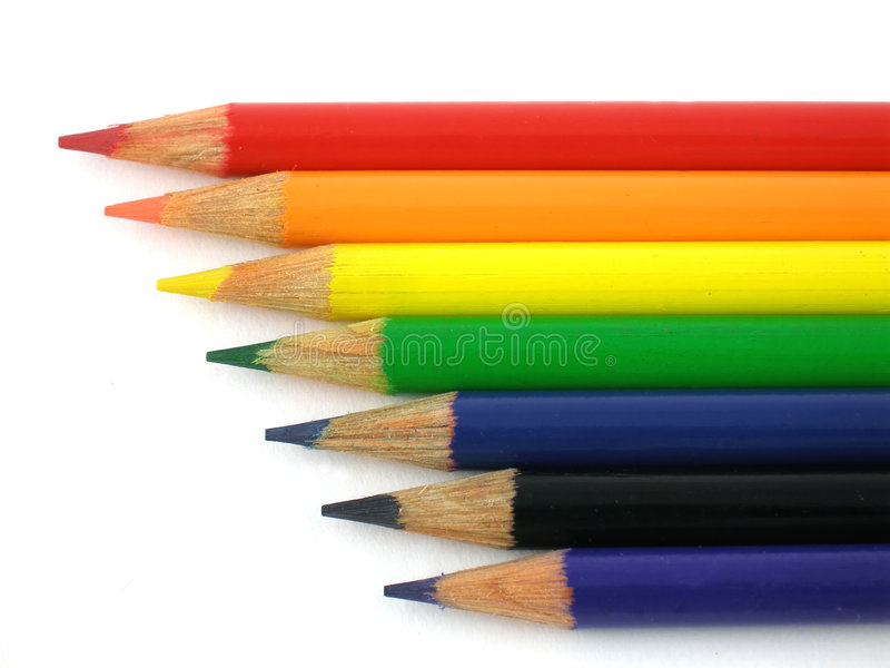 pencils regnbågen arkivbild