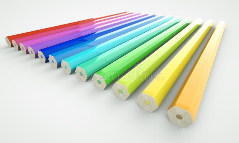 Download Pencils Reverse stock illustration. Image of education - 19819552