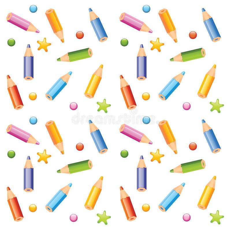 Free Pencils Seamless Pattern Royalty Free Stock Photo - 9229265