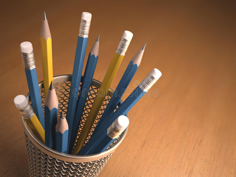 Download Pencils stock illustration. Image of path, drawing, pencil - 39249498