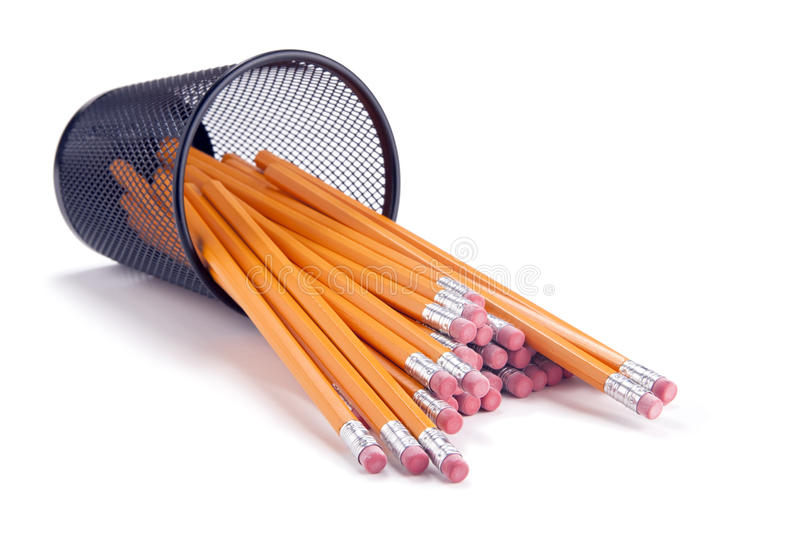 Download Pencils Spilling From Cup stock image. Image of concept - 13112475