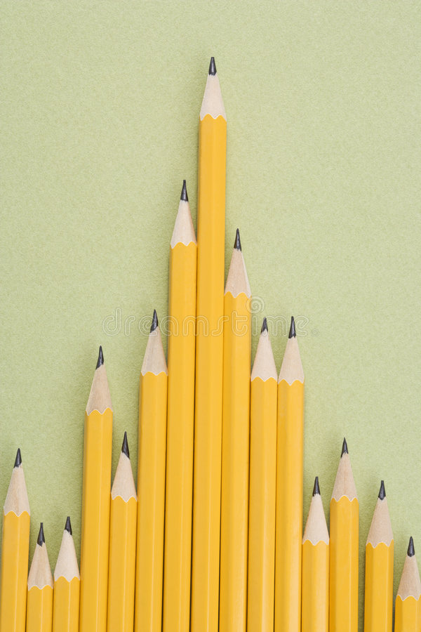 Download Pencils in uneven row. stock image. Image of photograph - 2425709