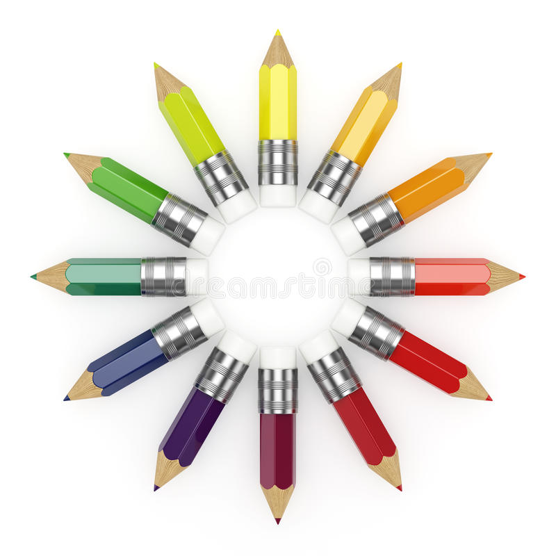 Download Pencils whee stock illustration. Image of crayon, group - 23156498