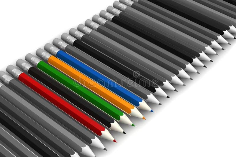 Download Pencils On White Background Stock Illustration - Image: 10467910