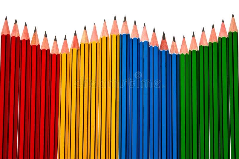 Pencils On White Background Royalty Free Stock Photo