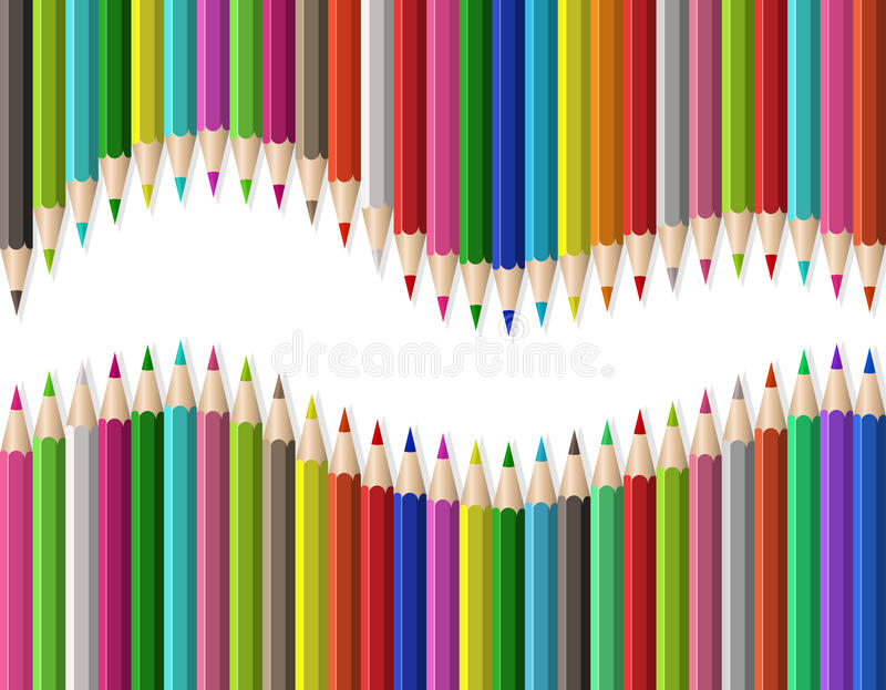 Download Pencils On White Background Stock Vector - Illustration: 23592703