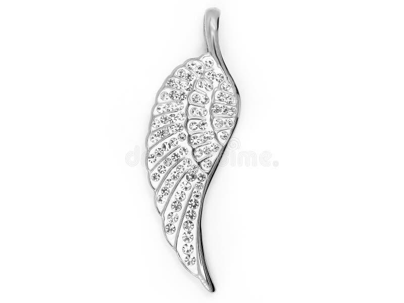 pendant Περιδέραιο κοσμήματος Σύμβολο των φτερών αγγέλου Υλικό ανοξείδωτο στοκ εικόνες