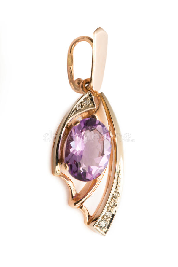 Download Pendant with amethyst stock photo. Image of romance, bright - 26682082