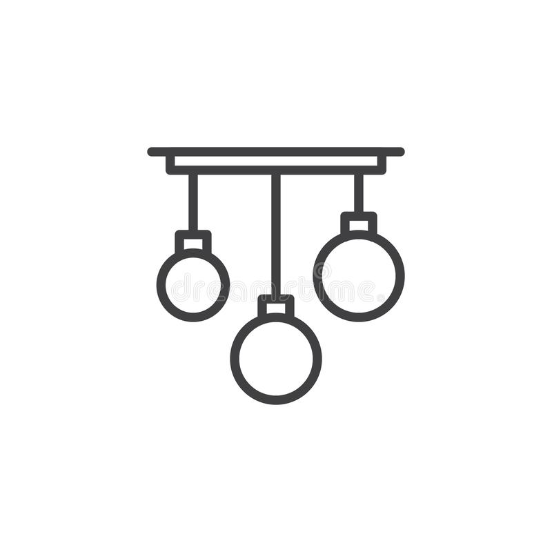 Pendant Ceiling Lamp outline icon royalty free illustration