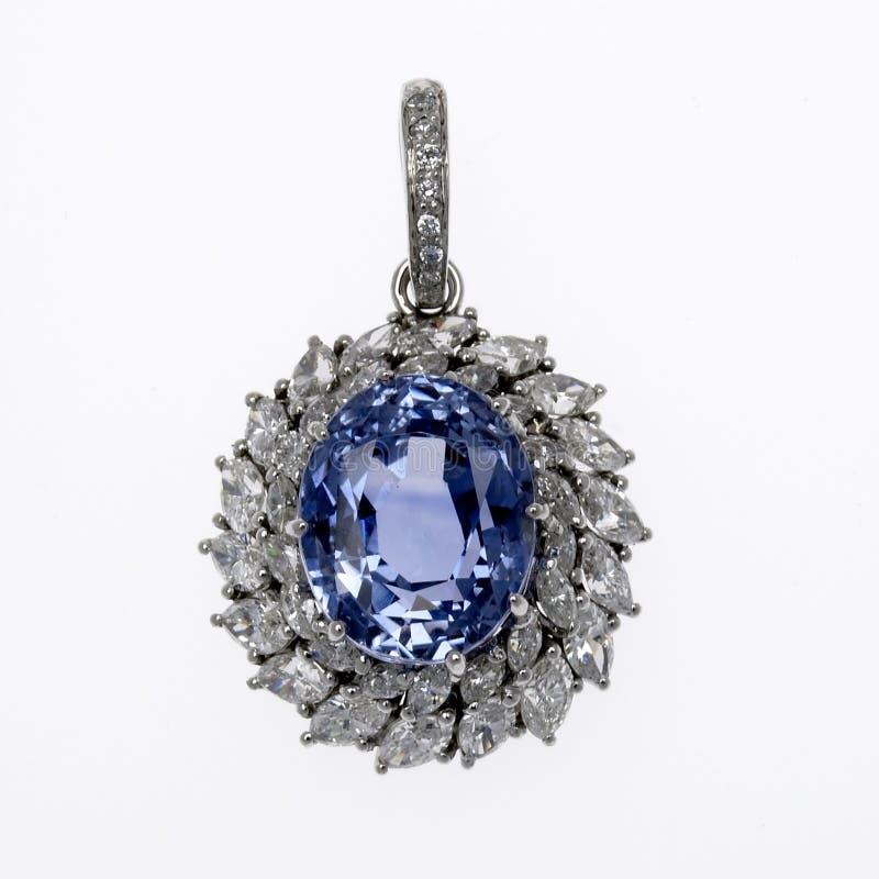 Pendant de diamant et de pierre gemme image stock