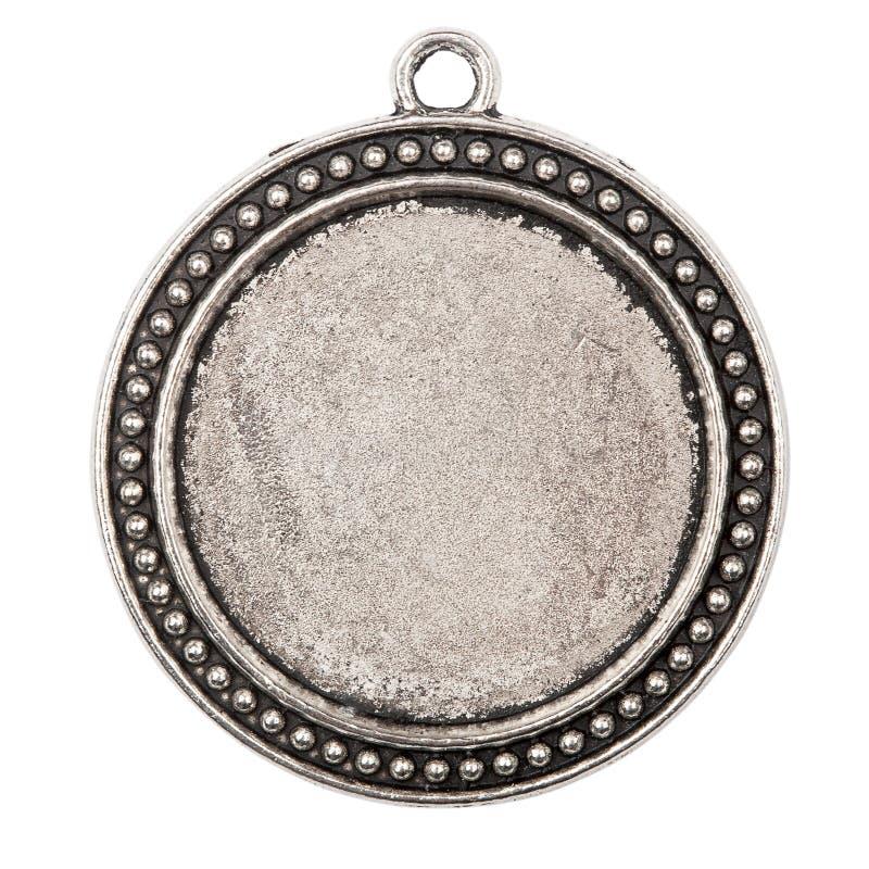 Pendant en métal de cru image stock