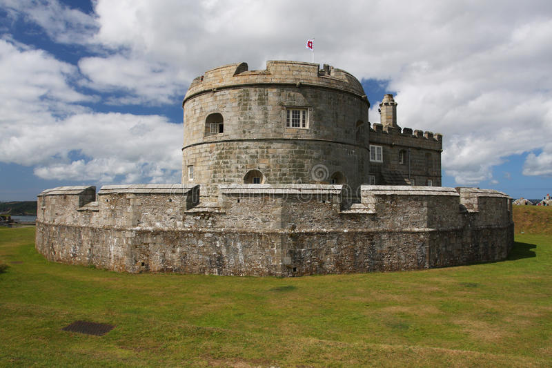 Pendennis Castle in Falmouth, Cornwall stock image